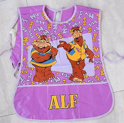 Vintage ALF Childrens Paint Apron Smock 1986 Purple Alien