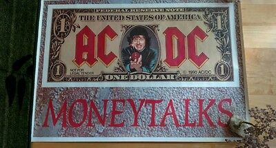 AC/DC money talks UK poster ** 1990 tour swag