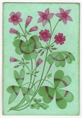 Playing Cards Single Swap - Antique Wide Square Corner - ARTISTIC FLOWERS FLORAL