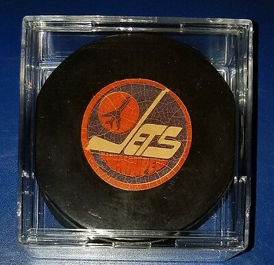 Winnipeg Jets NHL approved viceroy Canada vintage hockey puck scarce old beauty