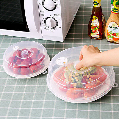 Plate Cover Microwave Dish Lid Anti-Splatter Vent Holes Safe Nontoxic Plastic