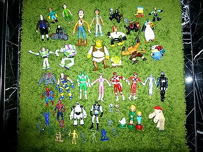 50 Pieces VARIETY ACTION FIGURE Figures PLAY SET Toy TOYS Mixed Lot