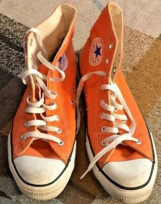 Vintage Converse All Star, Made In USA, Orange, Size 9.5