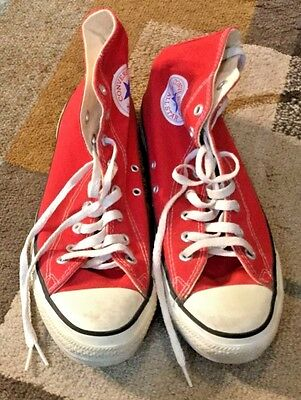 Vintage Converse All Star, Made In USA, Red, Size 10, Original Box