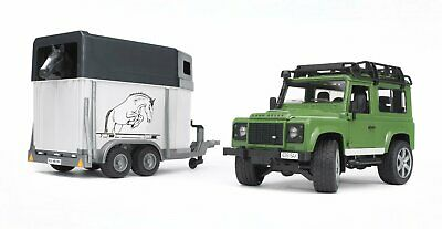 Bruder - Land Rover Defender Wagon with Horse Trailer 02592