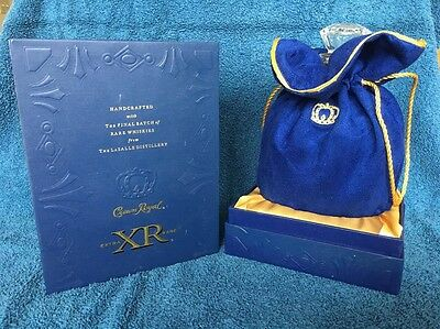 Crown Royal LaSalle Distillery XR Blue 750ML Box Bottle Decanter and Bag Rare.