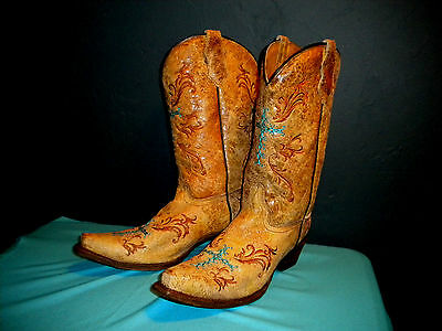 Cowboy Boots Size 6 Made by Corral Woman's Cowgirl Western Rodeo  Worn Twice