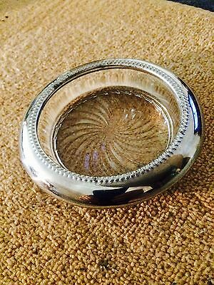 sterling silver crystal l vintage ashtray made in late 1930 amazing shape