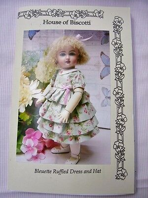 "11"" Bleuette PATTERN for Ruffled Dress and Hat"