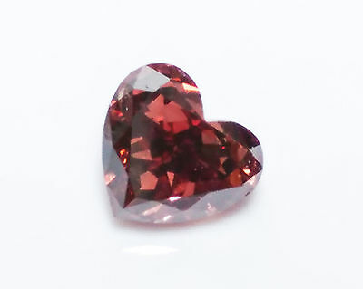 0.38ct Pink Diamond - Natural Loose Fancy Deep Pink Heart SI2 GIA Reddish Color