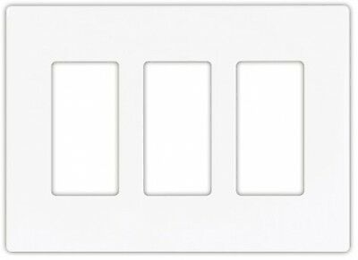 Eaton 9523WS Aspire Screwless Wallplate 3 Gang White Satin Virtually Unbreakable