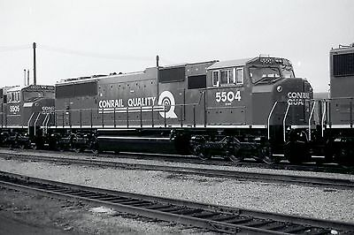 Railway Negative Conrail Sd60M # 5504 Brand New London, On 1992