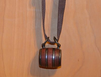Puppy St. Bernard Wooden Barrel Keg With A Brown Strap