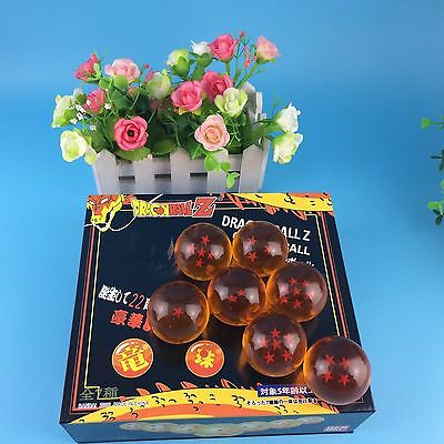 4CM 7pcs/set Dragon Ball Z Orange Crystal Balls Collection for DBZ Fans IN BOX