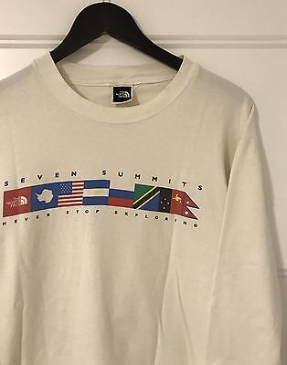 Vintage 90's North Face 'Seven Summits' Long Sleeve Shirt -- 1990's VTG Retro