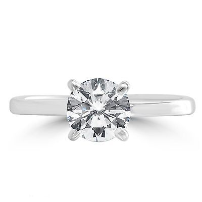New Genuine 1.0 CT Colourless D Stunning Engagement Solitaire Diamond Gold Ring