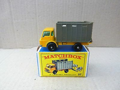 Matchbox Lesney No. 37 Cattle Truck - Near Mint With Original Box