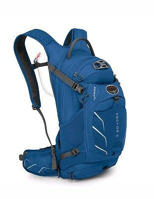 Osprey Raptor 14 Hydration Pack Bag Persian Blue Bike Ride Mountain Biking Race