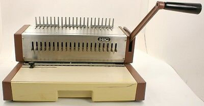 Home Office Booklet Binding System Kombo Hole Punch HIC HPB-210  w/ Combs
