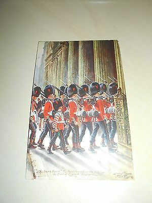 "Early Tuck Oilette Pc - Harry Payne - ""the Bank Guard"" Coldstream Guards - Vgc"