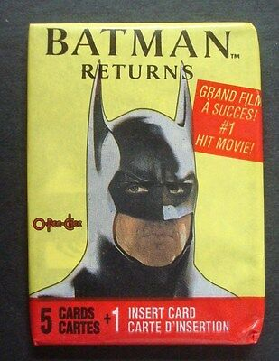 1992 OPC/Topps Canada*BATMAN RETURNS* SEALED/Unopened WAX PACKS New From Box