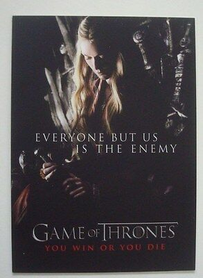2012 Rittenhouse **GAME Of THRONES** Season 1 You Win Or You Die #SP2 CERSEI