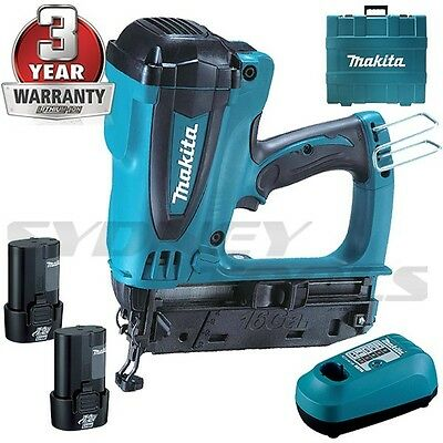 MAKITA GF600SE Cloueur de finition à gaz 2 batteries 7.2V Lithium = GN900 NR90GC