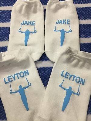 BOYS Personalised Gymnastics Trainer Liner Training Socks Squad Gift