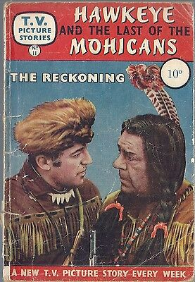 TV Picture Stories #11 HAWKEYE & THE LAST OF THE MOHICANS RECKONING 1959 comic