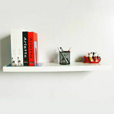 1 or 2 White Floating Wall Mounted Shelf shelves Display Storage bookcases 40cm