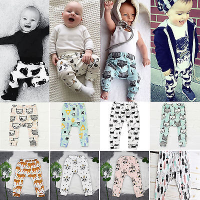 Kids Toddler Baby Boys Girls Animal Pattern Harem Pants Trousers Bottom Leggings