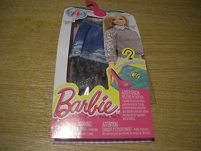 Mattel Barbie Clothes Outfits Accessories Pack Cfx73 Dhk09 Denim Skirt Bnip
