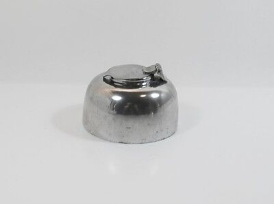 Vintage English Pewter Dip Pen Inkwell Mid-Century Made in Sheffield England