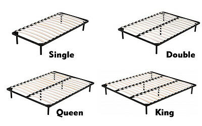 Single,Double,Queen,King Metal Bed Frame Wood slate Bed Bedroom furniture Black