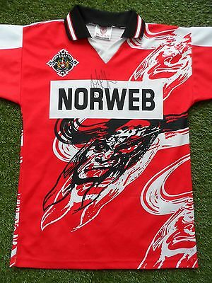 Mick Cassidy Hand Signed Wigan Warriors 1997 Rugby League Shirt - Autograph COA