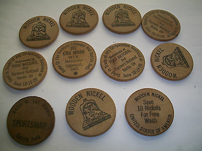 Collectable Wooden Nickles [12pc]