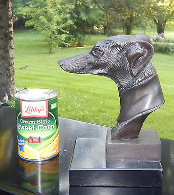 Vintage Greyhound Dog Head Statue