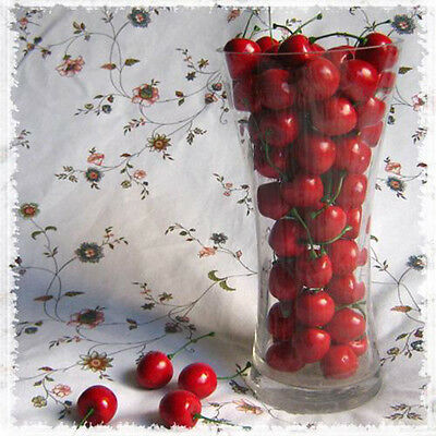 New 20pcs Mini Artificial Fake Plastic Cherry Fruit Food Wedding Decor