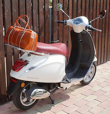 Leather Top Case Roll Bag Vespa Primavera 946 Sprint LX PX LXV GTS GTV Tan