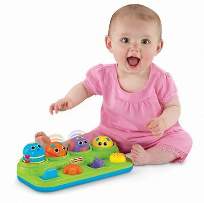 Fisher-Price Brilliant Basics Boppin'  Bop & Pop Activity Bugs Baby Toy Gift