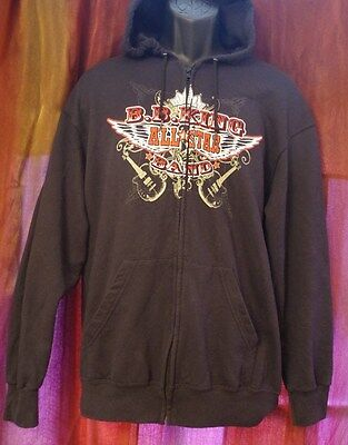 B.B. King All Star Band Zip Up Hoodie Size L