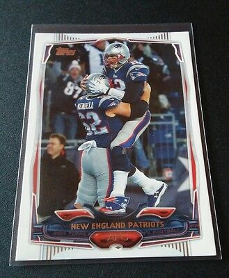 New England Patriots Team #6 Topps 2015 Trading Card NFL Football Tom Brady