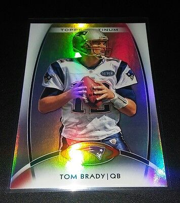 Tom Brady #50 Topps Platinum Refractor 2012 Trading Card NFL Patriots