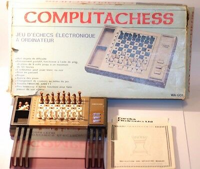 Rare Vintage Chess Computer Allcock Ltd Wa-001 Made In Hong Kong 1981