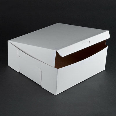 50 count WHITE 10x10x4 Bakery or Cake Box