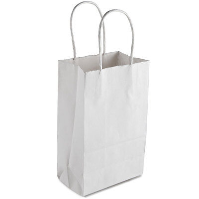 50 count Paper Retail / Shopping Bag 5x3x9 WHITE with rope handle GEM