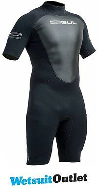 2017 Gul Response 3/2mm Mens Shorty Wetsuit in Black RE3319-A9