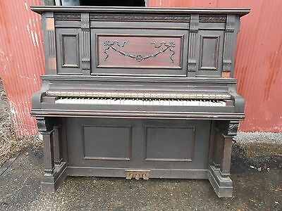 Antique Victorian Style Carved Wood BECKWITH Concert Grand  Piano Chicago
