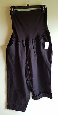 NWT $54 Oh Baby Motherhood Maternity 2X Convertible Pants BLACK #535517