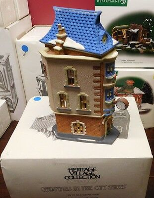 City Clockworks, Christmas In The City, Department 56 #55313 In Original Box